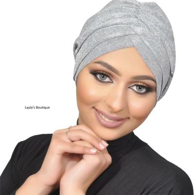 Glitter fabric turban, sparkling turban, women turban, chemo