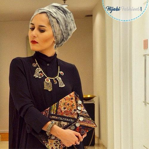 Turban Hijab Style With Neck Coverage  Hijabi Fashions