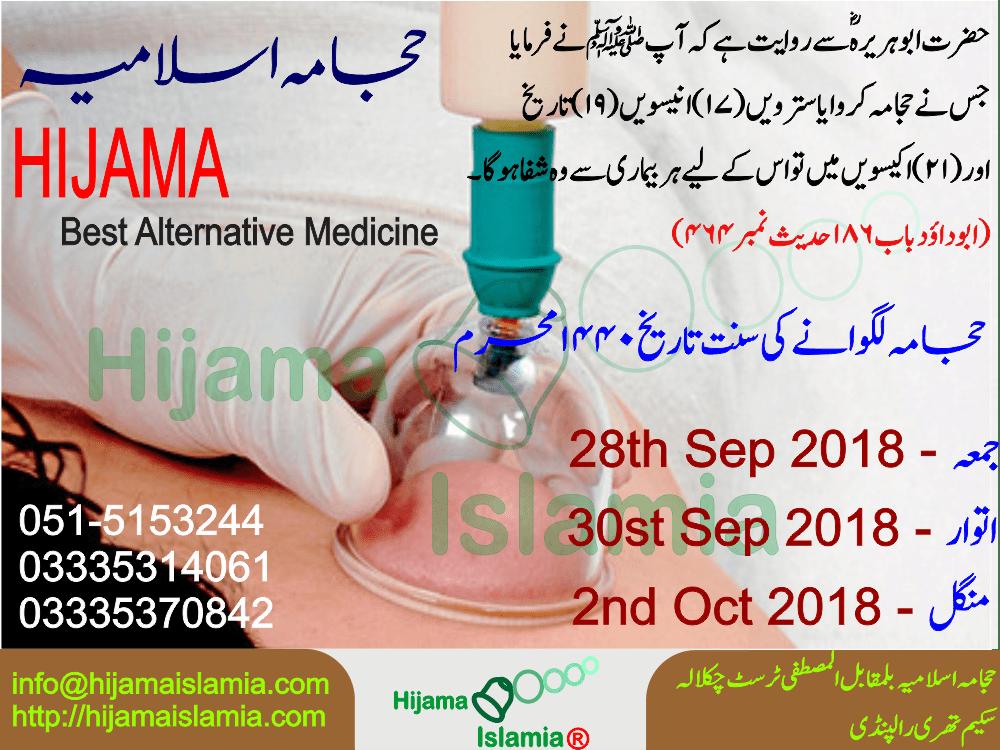 Hijama Sunnah Days for Muharram