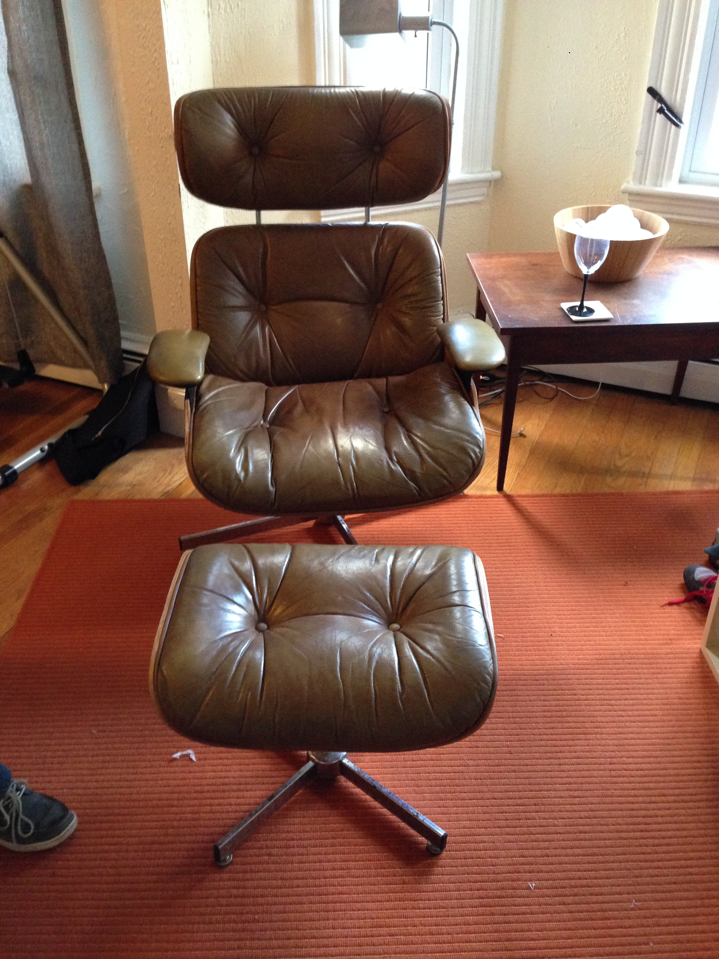 selig plycraft lounge chair parts swivel pillows restoration part one hijinks goods i found 2 of these matching early 60 s chairs with ottomans on craigslist for super cheap have always wanted an old eames but