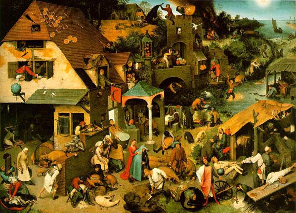 Los Regranes Neerlandeses, 1559. Oleo sobre madera de roble, 117 x 163 cm