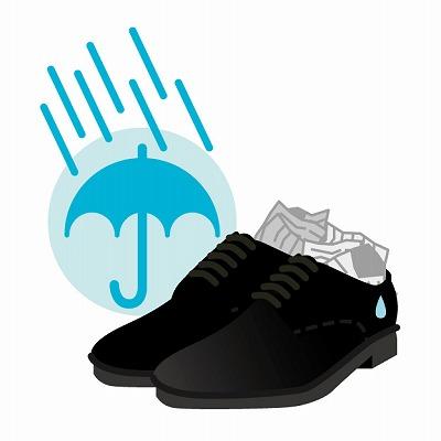 靴 乾かす 新聞紙