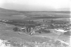 Historic B&W picture of an Israeli Moshava