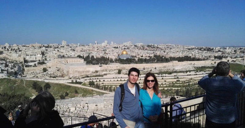 View of Jerusalem from mount Olives