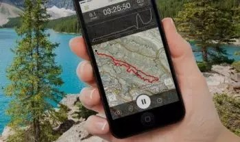 Hiking with GPS app on your mobile phone
