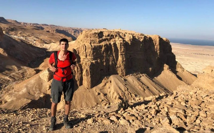 View of Masada from Elazar Mountain