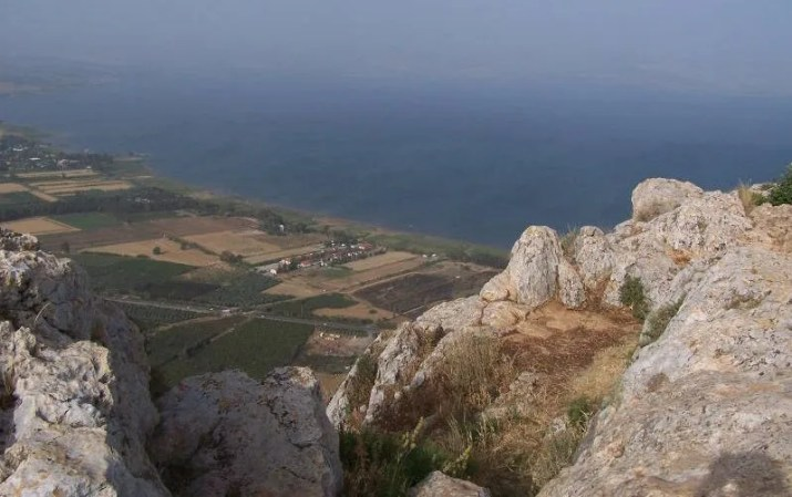 The view from the classic Carob view point. Mount Arbel, Galil, Israel
