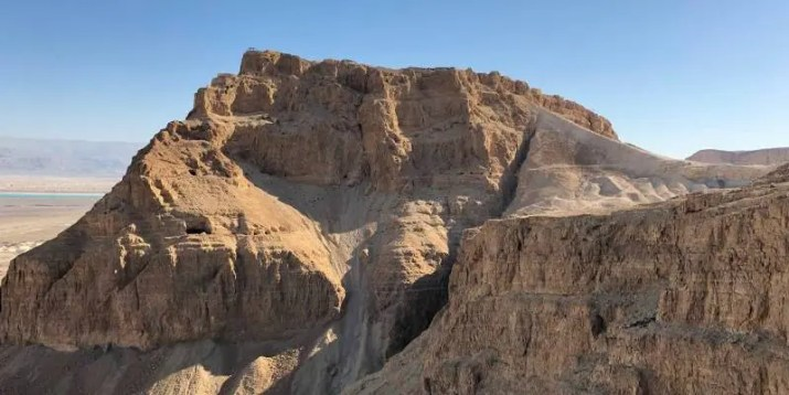 "Masada Northern Palace. View from the ""Runner"" Path"