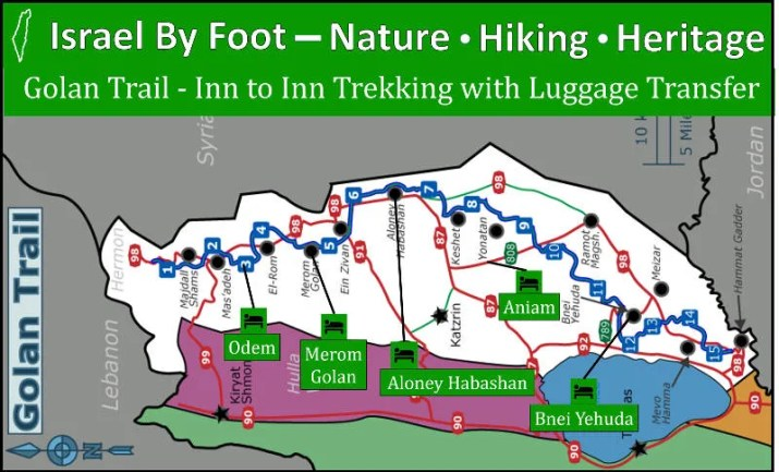 Inn to Inn Trekking the Golan trail with luggage transfer