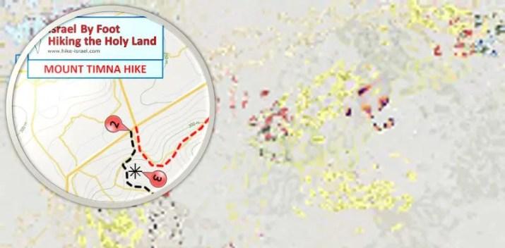 Mount Timna Hiking Map