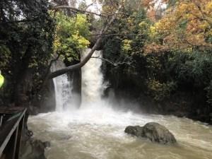 Banias Waterfall at the Banias (Hermon Stream) Nature Reserve
