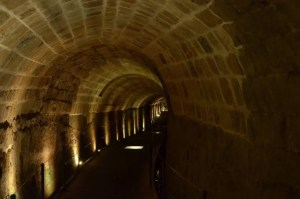 The Templar Tunnel in old Acre Israel