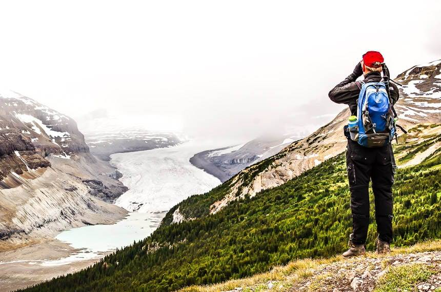 Looking out at the Saskatchewan Glacier - the source of the North Saskatchewan River