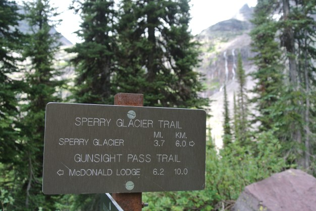 (KF) An optional hike to see the Sperry Glacier is a 3.7 mile hike that starts at the Chalet.