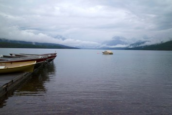 Lake McDonald socked in. (JP)