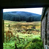 Looking out from Over Phawhope Bothy, across to Moffat hills. By Jamie Kimber.