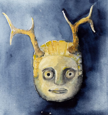 Head with antlers