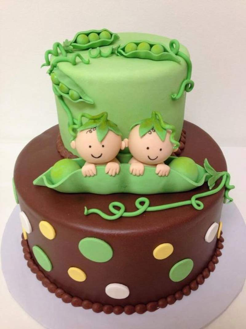 Baby Shower Cake For Twins : shower, twins, Shower, Cakes, Twins, Which, Spells, Double, Happiness