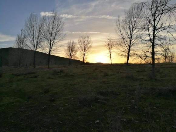 Sunset just over the ridgeline