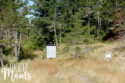 Clay Myers Trail at Whalen Island Park Cloverdale Oregon signs trail head Coastal Hikes Beautiful Beach fields for days