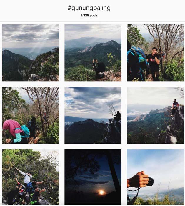 Instagram #gunungbaling