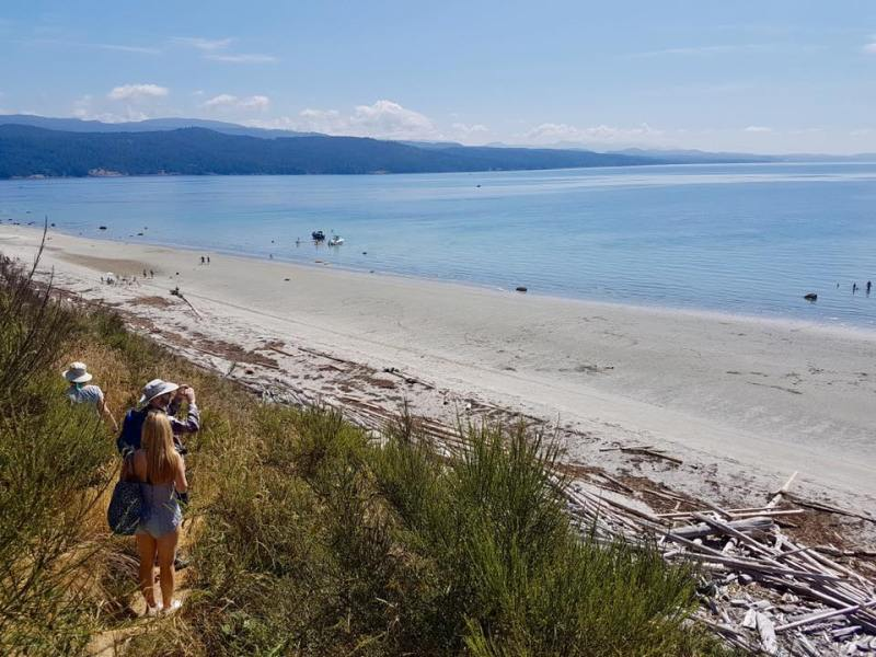 south beach, savary island, bc, desolation sound, lund