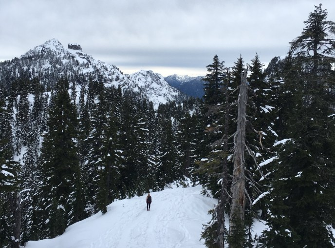 dam mountain, grouse mountain, snowshoe grind, hikes near vancouver, kahtoola microspikes, winter hiking near vancouver, north vancouver snowshoe trails, north shore snowshoeing