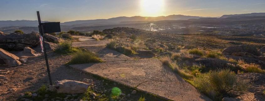 the shinob kibe trail at sunrise