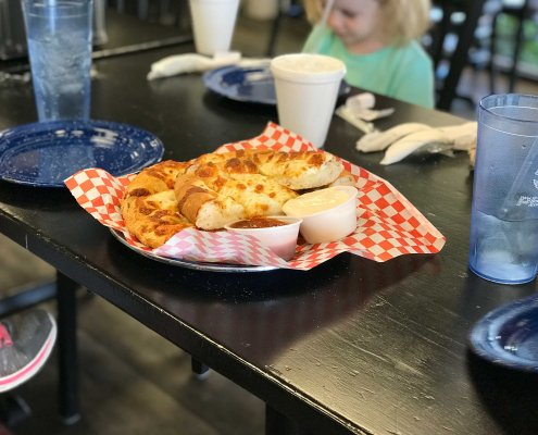 Roy's Mozzarella Bread Sticks and Pizza