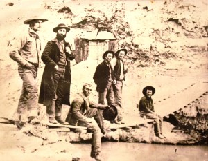 Hurricane Canal workers at the hot springs