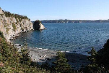 Spectacular Tar Cove Beach. We watched a pair of loons dive for food and gannets and terns flying above.