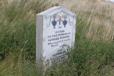 One of the few remaining gravestones.