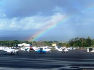 Mit einem schönen Regenbogen verabschiedet sich Big Island von uns