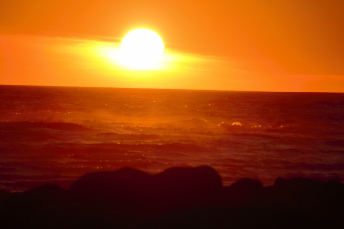 Sunset at Green Point October 2016o