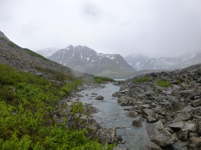 Rain and fog in South Fork Eagle River