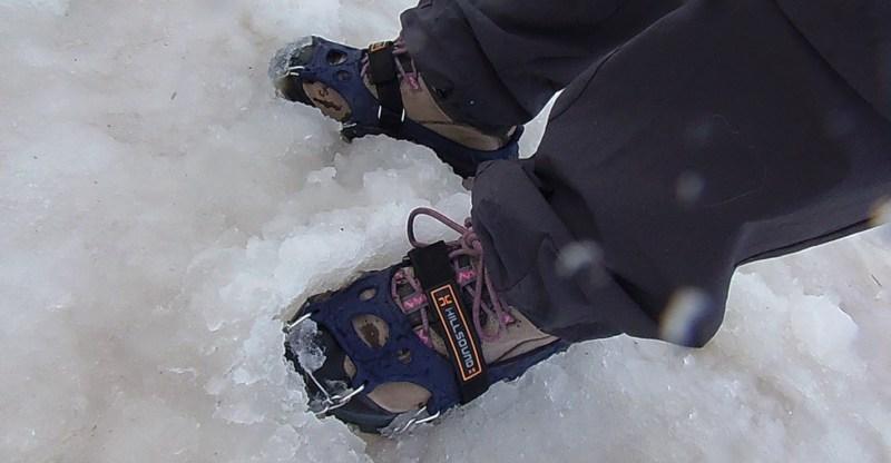 Hillsound trail crampons in slush