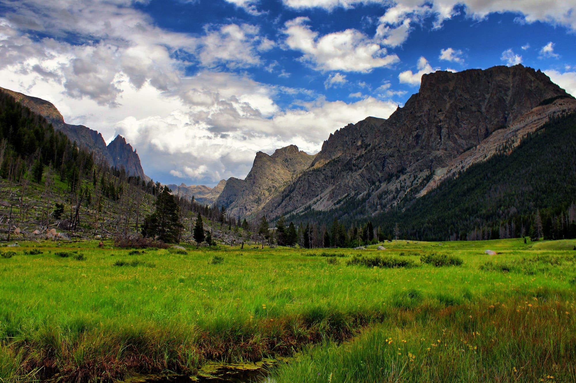 Osborn Mountain is on the left