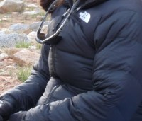 My Down Jacket - comes in handy on backpacking trips!
