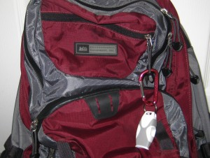 Fox 40 Sharx Whistle on my Daypack