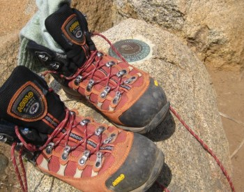 My Asolo hiking boots have taken me to the tops of many mountains!