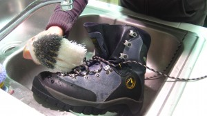 Step 1: Clean Your Boots Using a Stiff Bristle Brush and Water