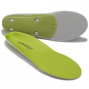 Ridge-free Green Superfeet Insoles
