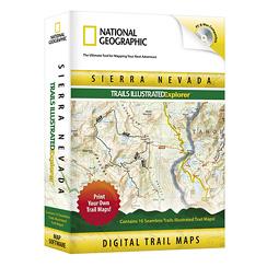 National Geographic Trails Illustrated CA Sierra Nevadas