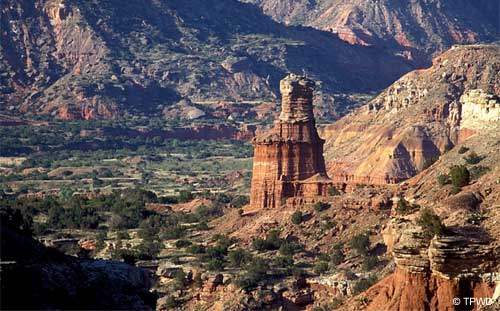 Lighthouse Rock at Palo Duro Canyon State Park, Texas.
