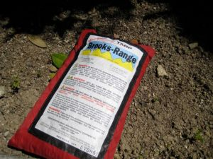 The tarp easily packs into a small 8 inch x 5.5 inch bag with a secure velcro seal