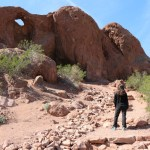 """Hiking Lady headed up to see """"Hole in the Rock"""" at Papago Park"""