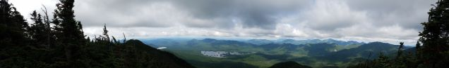 180-degree panoramic view from the top of Macomb Mountain ...