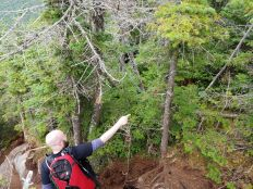 Mark pointing out a tree that was being a jerk - making sure I knew specifically which one to avoid ...