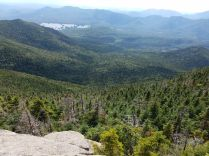 A view down into the Elk Lake valley from Hough Mountain ...