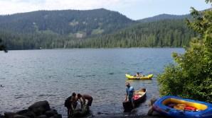 Kicking back along the shore of Lost Lake